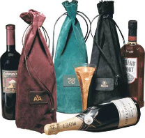Leather Wine Tote Bags